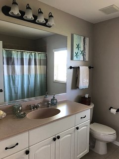 Guest bathroom in coastal decor