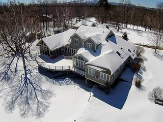 Amazing Estate on 10 Acres with a Pond. Sleeps 18. Only 5 min to Bromley Mt.