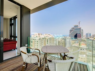 HAYARKON Luxurious 2 rooms balcony amazing city view
