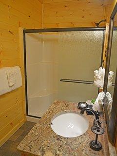 Walk In Shower in each bathroom.