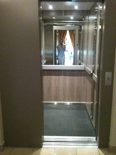 Large, elevator to your door. No stairs to climb to the 3rd floor.