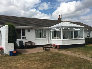 3 bedroom family bungalow, sleeping 7. Awarded 4 star rating with Visit Wales