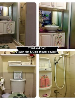 Toilet and Bathroom  -Hot and Cold shower device