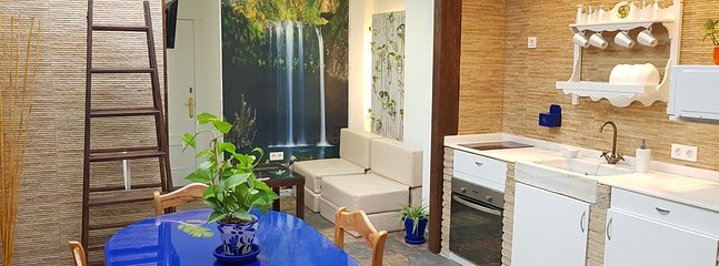 Centro: Apartamento Jardín + Wifi