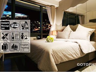 Gotophi Luxurious 5Star hotel room on 51th floor in Gramercy residences Makati