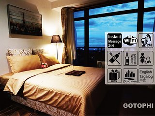 Gotophi Luxurious 5Star hotel room on 59th floor in Gramercy residences Makati