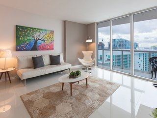 Highrise Luxury condo apartment with panoramic view highrise at the W Miami! FRE