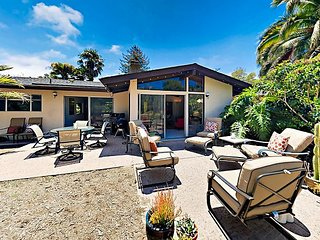 3BR Mid-Century Montecito Orchard Estate w/ Fire Pit & Fruit Orchards