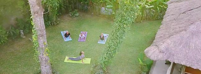 yoga provided 2 times a week surf camp in Bali