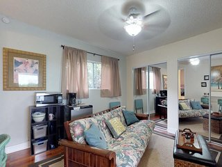 NEW LISTING! Cozy family suite with futon, kitchenette, TV, and private entrance