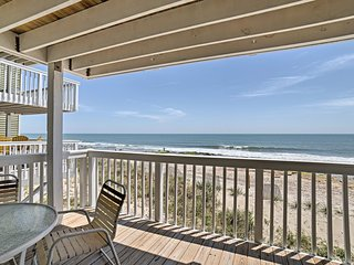 NEW! Oceanfront Condo on Kure Beach w/ Pool Access