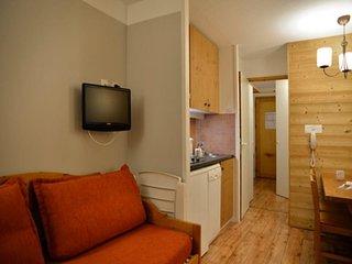 Studio cabine non fermée au pied des pistes pour 4 personnes de 27 m²