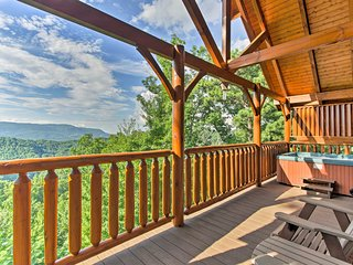 NEW! Sevierville Cabin w/Bluff Mtn View & Hot Tub