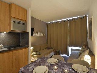 Appartement rénové de 2 pièces pour  5 personnes, au pied des pistes