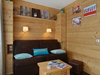 Studio + cabine rénové en juin  2013 pour 4  personnes  de 28m², au coeur de la