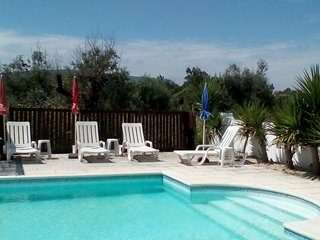 Glamping caravan holiday with use of large swimming pool