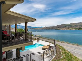 Sprawling home for large groups w/ lake views, private pool & hot tub, and more!