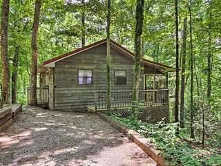 NEW! Cabin w/Hot Tub, Screened Porch, Covered Deck