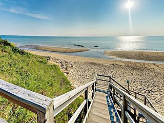 Private Cape Cod Beach Access! 4BR on Forested Property w/ Screened Porch