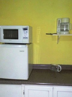 Microwave Oven, Fridge and coffee maker