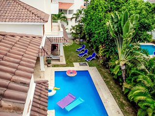VILLAS GEMELAS, PRIVATE POOL & BBQ! RESIDENTIAL LOS CORALES, ONLY $799 JULY 2018