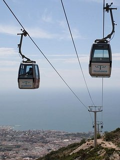Cable car just 2 train stops from Carvajal to Benalmadena train station.(next to Tivoli)