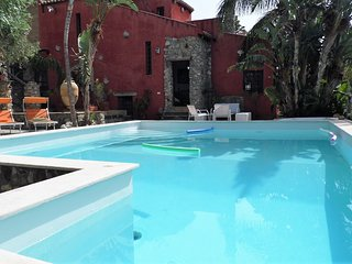 The Pool! m.4 x m.9, deep from m.1 to m.2,5; with Roman stairs entrance and idromassage bath!