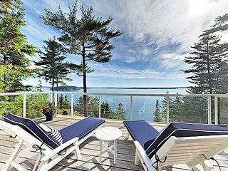 Peaceful, Water-View 4BR in Tranquil Setting - 7 Minutes to Bar Harbor