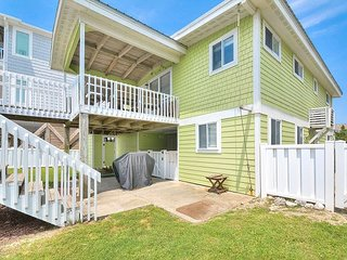 Updated Oceanfront 4BR w/ Boardwalk to Beach, Fenced Yard & Deck