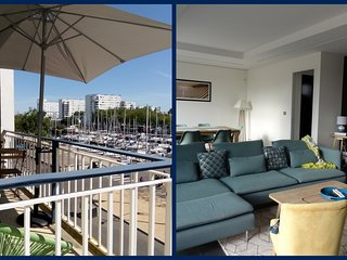 GD APPARTEMENT DE STANDING PLEIN CENTRE TERRASSE VUE PORT garage fermé