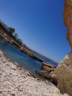 cala blanca about 300m from apartment. A photo sent to me by a guest.