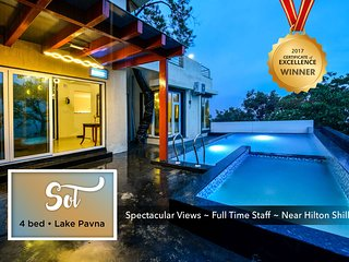 Lake Pavna • Luxurious Pool Villa • near Hilton Shillim & Club Mahindra • 4 bed