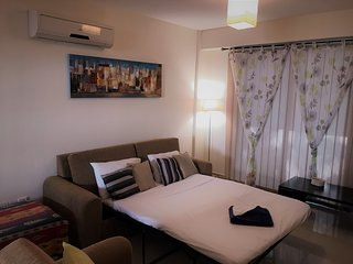 Demetris Apartment, free wifi, sleeps 6, air con, communal pool, gym & parking.