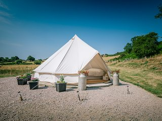 Meadow Sweet Glamping with views of Snowdonia