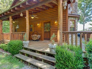 NEW LISTING! Dog-friendly cabin w/ a private hot tub & partial mountain views