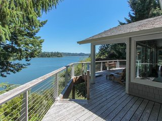 Lakefront home w/ private dock & multi-level deck - near beaches/dunes!