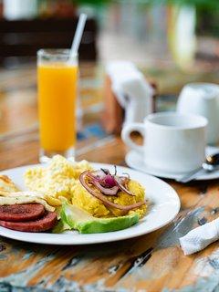 un desayuno delicioso.