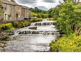 Cosy, traditional cottage overlooking waterfalls, Gayle, Hawes, Yorkshire Dales.