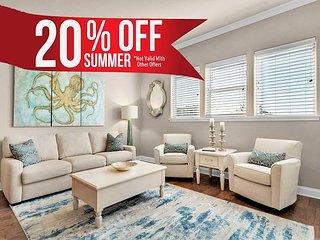 20% OFF Summer! Updated GULF VIEW *Resort Pool/Spa + FREE Perks, Steps2 Beach