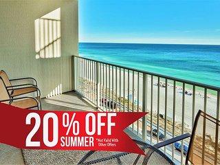 20% OFF Summer! GULF VIEW Beach Condo * Resort Pool/Spa Gym + FREE VIP Perks!