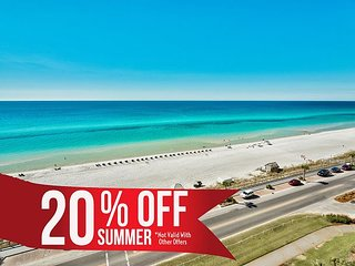 20% OFF Summer! GULF VIEW Beach Condo * Resort Pool/Spa Gym + FREE VIP Perks!