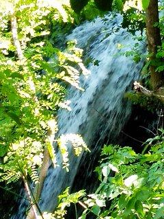 Waterfall from window