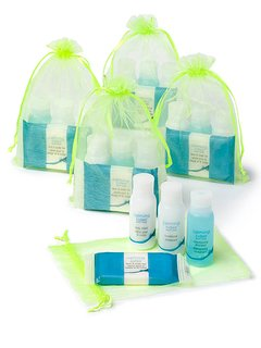 Complimentary 'Calming Tides' bath care products; formulated with natural and gentle ingredients.