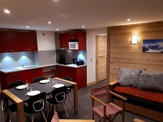 Agréable appartement 2 pièces dans station familiale au pied des pistes