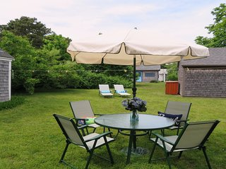 Enjoy being outside in the large yard! - 38 Pleasant Street Harwich Port Cape Cod New England Vacation Rentals