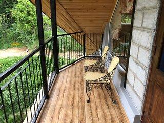 Private balcony with attic room