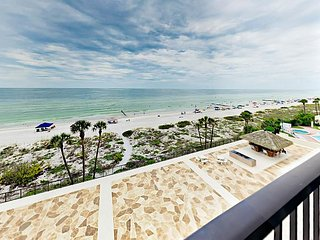 Posh 1BR Gulf-Front w/ Private Beach & Balcony—Near Shopping & Recreation