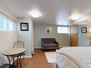 NEW LISTING! Cozy garden-level studio with large outdoor space and more!