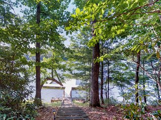 NEW LISTING! Cozy, dog-friendly home on the lake w/ private dock & lovely views!