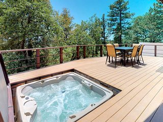 NEW LISTING! Dog-friendly cabin with private hot tub & stunning mountain views!